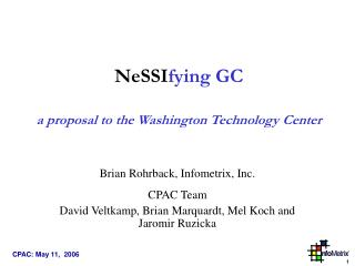NeSSI fying GC a proposal to the Washington Technology Center