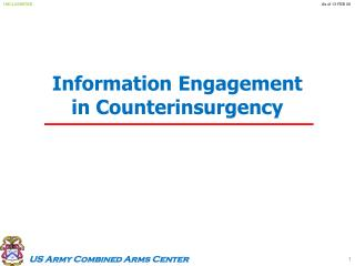 Information Engagement in Counterinsurgency