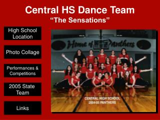 Central HS Dance Team �The Sensations�
