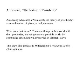 "Armstrong, ""The Nature of Possibility"""