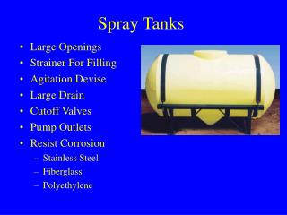 Spray Tanks