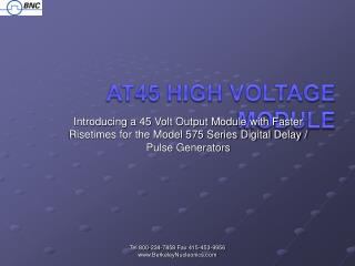 At45 High Voltage Module