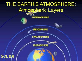 THE EARTH'S ATMOSPHERE: Atmospheric Layers