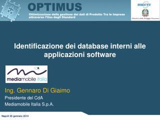 Identificazione dei database interni alle applicazioni software