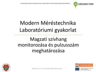 Modern Méréstechnika Laboratóriumi gyakorlat