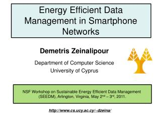 Energy Efficient Data Management in Smartphone Networks
