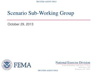 Scenario Sub-Working Group