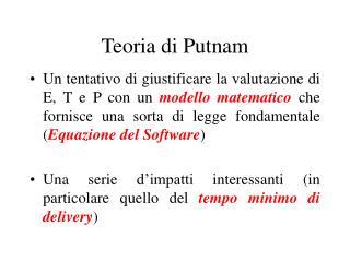 Teoria di Putnam