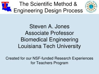 The Scientific Method & Engineering Design Process