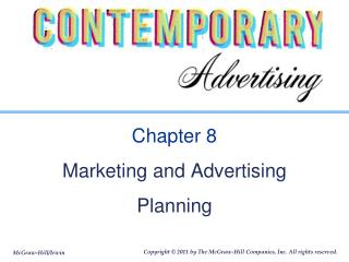 Chapter 8 Marketing and Advertising Planning