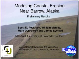 Modeling Coastal Erosion Near Barrow, Alaska