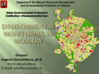 Environmental monitoring in Moscow