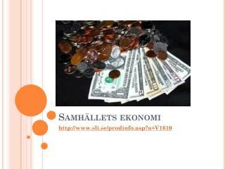 Samhällets ekonomi