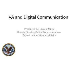 VA and Digital Communication