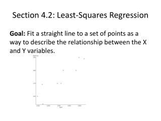Section 4.2: Least-Squares Regression