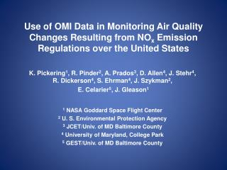 Use of OMI Data in Monitoring Air Quality Changes Resulting from NOx Emission Regulations over the United States