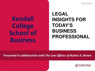 Kendall College  School  of Business