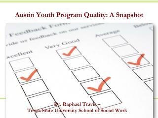 Austin Youth Program Quality: A Snapshot