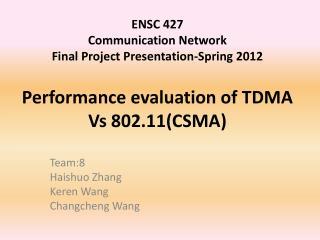 Team:8 Haishuo Zhang Keren  Wang Changcheng  Wang