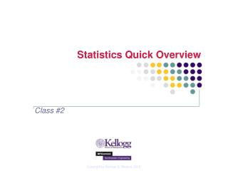Statistics Quick Overview