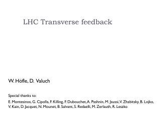 LHC Transverse feedback
