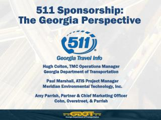 511 Sponsorship:  The Georgia Perspective