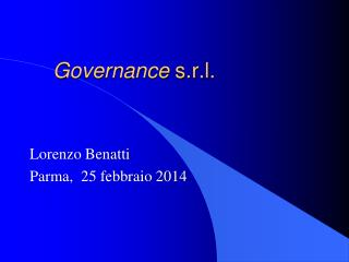 Governance  s.r.l.