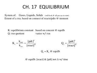 CH. 17  EQUILIBRIUM