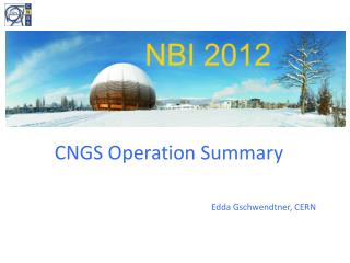 CNGS Operation Summary
