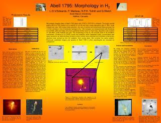 Abell 1795: Morphology in H 2