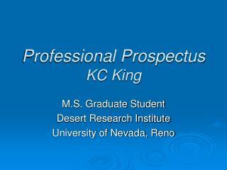 Professional Prospectus KC King