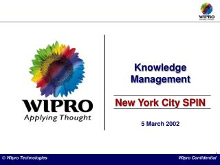 Knowledge Management New York City SPIN 5 March 2002
