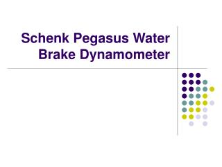 Schenk Pegasus Water Brake Dynamometer
