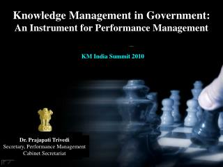 Knowledge Management in Government:  An Instrument for Performance Management