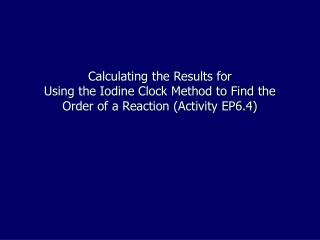 The following series of steps is required to complete the calculations