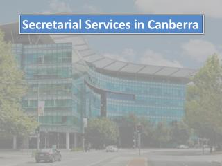 Secretarial Services in Canberra