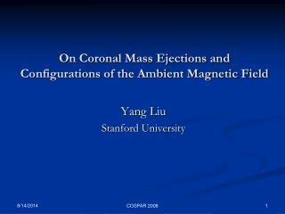 On Coronal Mass Ejections and Configurations of the Ambient Magnetic Field