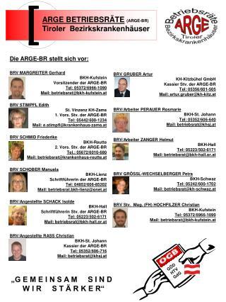 BRV GRUBER Artur KH-Kitzbühel GmbH Kassier Stv. der ARGE-BR Tel: 05356/601-505