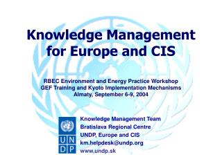 Knowledge Management for Europe and CIS
