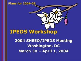 IPEDS Workshop