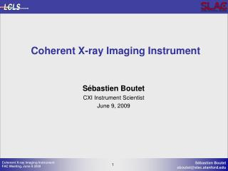 Coherent X-ray Imaging Instrument