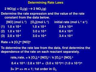Determining Rate Laws