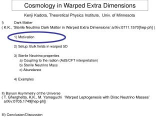 Cosmology in Warped Extra Dimensions