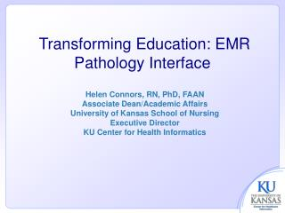 Transforming Education: EMR Pathology Interface
