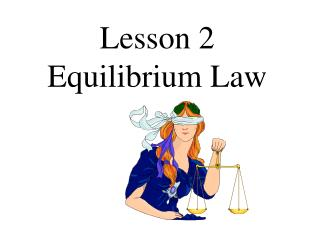 Lesson 2  Equilibrium Law