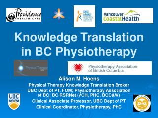 Knowledge Translation in BC Physiotherapy