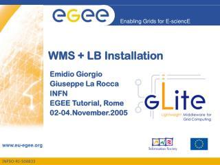 WMS + LB Installation