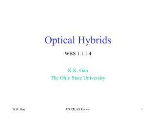 Optical Hybrids