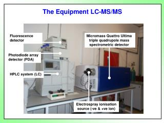 Micromass Quattro Ultima triple quadrupole mass spectrometric detector