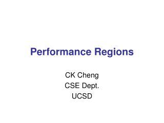 Performance Regions